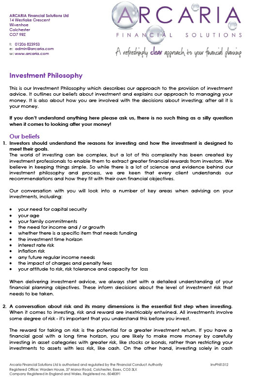 investment philosophy pdf